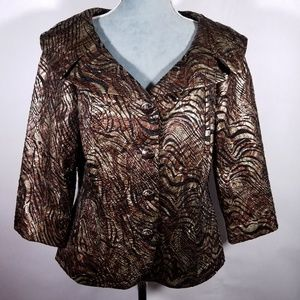 Nuevo Beautiful Textured Brown Formal Over Jacket